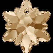 Swarovski Pendant 6748 - 18mm, Crystal Golden Shadow (001 GSHA), 2pcs
