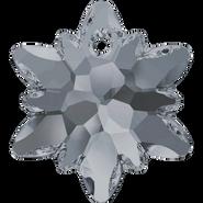 Swarovski Pendant 6748 - 18mm, Crystal Silver Night (001 SINI), 2pcs