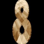 Swarovski Pendant 6792 - 18mm, Crystal Golden Shadow (001 GSHA), 2pcs