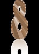 Swarovski Pendant 6792 - 18mm, Crystal Rose Gold 2x (001 ROGL2), 2pcs