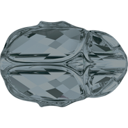 Swarovski Bead 5728 - 12mm, Crystal Silver Night (001 SINI), 4pcs