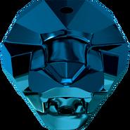 Swarovski 5751 - 14mm, Crystal Metallic Blue (001 METBL), 1pcs