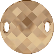 Swarovski Sew-on 3221 - 28mm, Crystal Golden Shadow (001 GSHA) Unfoiled, 1pcs