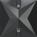 Swarovski Sew-on 3240 - 16mm, Jet Hematite (280 HEM) Unfoiled, 1pcs