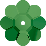 Swarovski Sew-on 3700 - 8mm, Fern Green (291) Unfoiled, 12pcs