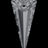 Swarovski Pendant 6480 - 18mm, Crystal Silver Night (001 SINI), 2pcs