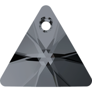 Swarovski Pendant 6628 - 16mm, Crystal Silver Night (001 SINI), 1pcs