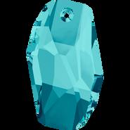 Swarovski Pendant 6673 - 28mm, Light Turquoise (263), 1pcs