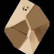 Swarovski Pendant 6680 - 20mm, Crystal Golden Shadow (001 GSHA), 1pcs