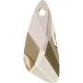 Swarovski Pendant 6690 - 27mm, Crystal Silver Shade (001 SSHA), 1pcs