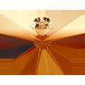 Swarovski Pendant 6754 - 18mm, Topaz Blend (722), 1pcs