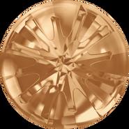 Swarovski Round Stone 1695 - 10mm, Crystal Golden Shadow (001 GSHA) Foiled, 72pcs