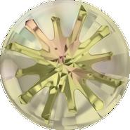 Swarovski Round Stone 1695 - 10mm, Crystal Luminous Green (001 LUMG) Foiled, 72pcs