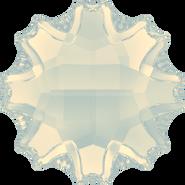 Swarovski Flatback 2612 - 10mm, White Opal (234) Foiled, No Hotfix, 48pcs