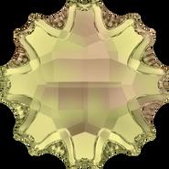 Swarovski Flatback 2612 - 14mm, Crystal Luminous Green (001 LUMG) Foiled, No Hotfix, 36pcs