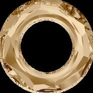 Swarovski Fancy Stone 4139 - 14mm, Crystal Golden Shadow (001 GSHA) Unfoiled, 72pcs