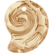 Swarovski Pendant 6731 - 14mm, Crystal Golden Shadow (001 GSHA), 36pcs