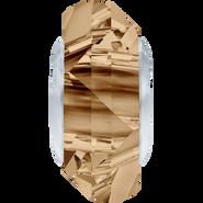 Swarovski Bead 5929 MM 14,0 CRYSTAL GOL.SHADOW STEEL(1pcs)