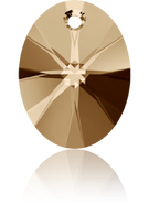 Swarovski Pendant 6028 MM 12,0 CRYSTAL GOL.SHADOW(108pcs)