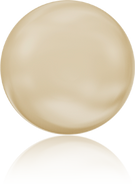 Swarovski 5860 MM 10,0 CRYSTAL LIGHT GOLD PEARL(100pcs)
