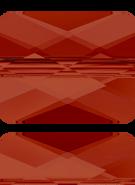 Swarovski Bead 5055 MM 10,0X 8,0 CRYSTAL RED MAGMA(72pcs)