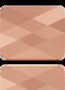 Swarovski Bead 5055 MM 10,0X 8,0 CRYSTAL ROSE GOLD(72pcs)