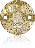 Swarovski Sew-on 3220 MM 14,0 CRYSTAL GOLD-PAT F(96pcs)