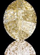 Swarovski Fancy Stone 4224 MM 10,0X 8,0 CRYSTAL GOLD-PAT F(144pcs)