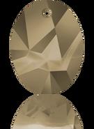 Swarovski Pendant 6911 MM 36,0 CRYSTAL METLGTGOLD(9pcs)