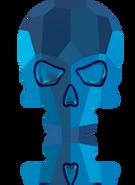 Swarovski 2856 MM 18,0X 14,0 CRYSTAL MET.BLUE F(30pcs)
