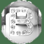 """Swarovski BeCharmed 182201 - 12m Stainless Steel letter """"B"""" each"""
