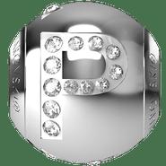 """Swarovski BeCharmed 182201 - 12m Stainless Steel letter """"P"""" each"""