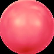 Swarovski Crystal Pearl 5810 - 10mm, Crystal Neon Red Pearl (001 770), 100pcs