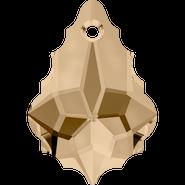 Swarovski Pendant 6090 - 16x11mm, Crystal Golden Shadow (001 GSHA), 72pcs