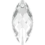 Swarovski Pendant 6110 - 40x18mm, Crystal (001), 12pcs