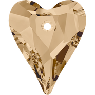 Swarovski Pendant 6240 - 17mm, Crystal Golden Shadow (001 GSHA), 72pcs