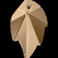 Swarovski Pendant 6735 - 26x16mm, Crystal Golden Shadow (001 GSHA), 30pcs