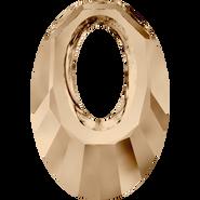 Swarovski Pendant 6040 - 30mm, Crystal Golden Shadow (001 GSHA), 30pcs