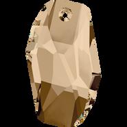 Swarovski Pendant 6673 - 18mm, Crystal Golden Shadow (001 GSHA), 48pcs