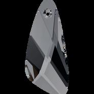 Swarovski Pendant 6690 - 23mm, Crystal Silver Night (001 SINI), 36pcs