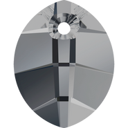Swarovski Pendant 6734 - 14mm, Crystal Silver Night (001 SINI), 108pcs