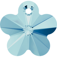 Swarovski Pendant 6744 - 14mm, Aquamarine (202), 144pcs