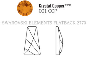 Swarovski 2770# - 12x7mm Crystal, COPPER, F, 192pcs, (6-6) Foiled