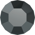Swarovski Round Stone 1100 - pp0, Jet Hematite (280 HEM) Foiled, 1440pcs