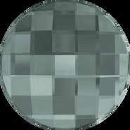 Swarovski Flatback 2035 - 6mm, Black Diamond (215) Foiled, No Hotfix, 360pcs