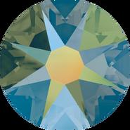 Swarovski Flatback 2088 - ss34, Crystal Iridescent Green (001 IRIG) Foiled, No Hotfix, 144pcs