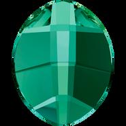 Swarovski Flatback 2204 - 14x11mm, Emerald (205) Foiled, No Hotfix, 108pcs