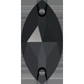 Swarovski Sew-on 3223 - 12x6mm, Jet (280) Unfoiled, 48pcs