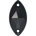 Swarovski Sew-on 3223 - 18x9mm, Jet (280) Unfoiled, 36pcs