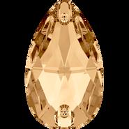 Swarovski Sew-on 3230 - 12x7mm, Crystal Golden Shadow (001 GSHA) Foiled, 96pcs